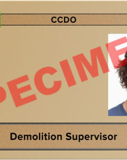 demolition supervisor card