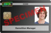 demolition manager card