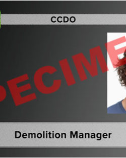demolition manager card